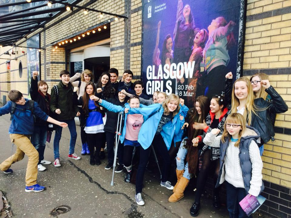 Love Drama outside the Citz - we are Glasgow Girls!